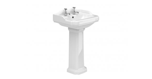 York 580mm Basin & Pedestal