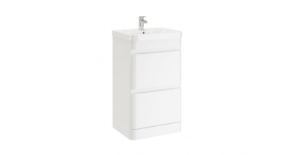 Casi 500mm 2 Drawer Floor Unit White