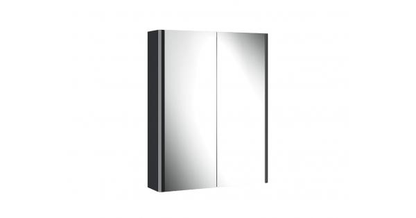 Casi 600mm 2 Door Mirror Cabinet Anthracite