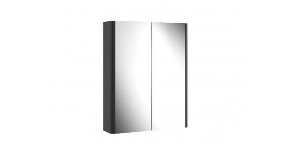 Casi 600mm 2 Door Mirror Cabinet Grey