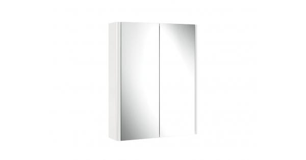 Casi 600mm 2 Door Mirror Cabinet White
