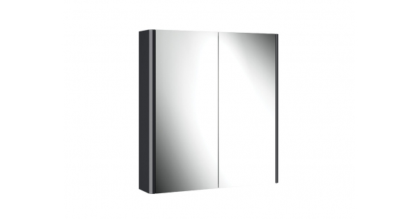 Casi 700mm 2 Door Mirror Cabinet Anthracite