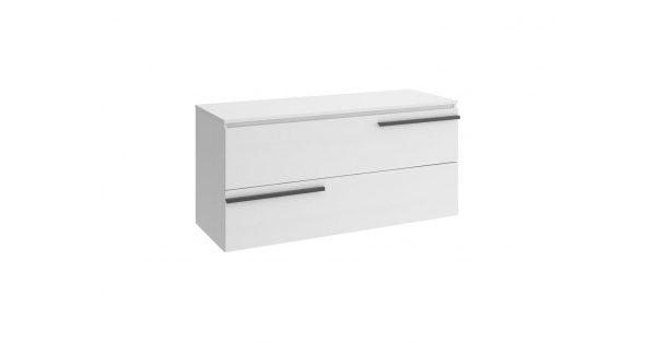 Crieve 1200mm 2 Drawer Wall Unit White with Worktop