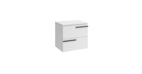 Crieve 600mm 2 Drawer Wall Unit White with Worktop
