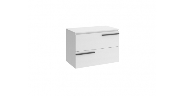 Crieve 800mm 2 Drawer Wall Unit White with Worktop