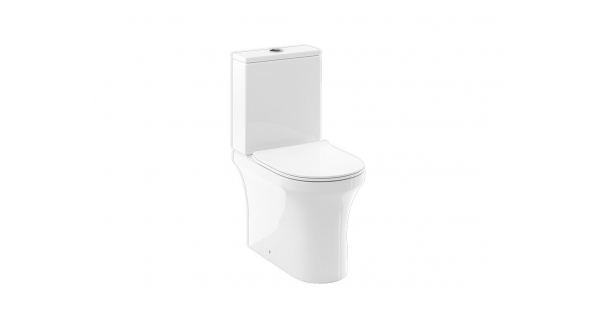 Dover Fully BTW Toilet Pan, Cistern & Soft Close Seat
