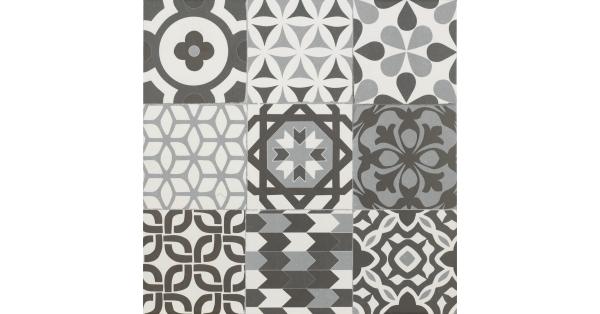 Gaudi Black Floor Tile 45 x 45