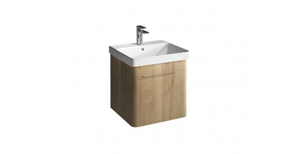 Brooklyn 500mm 1 Drawer Wall Unit Oak with Zen Basin