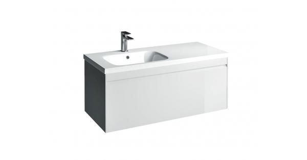 Hampton 1000mm 1 Drawer Wall Unit White