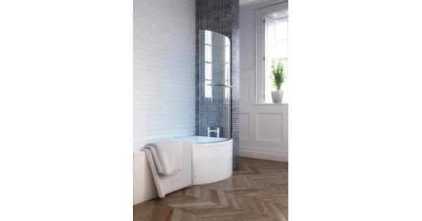 P-Shape Shower Bath