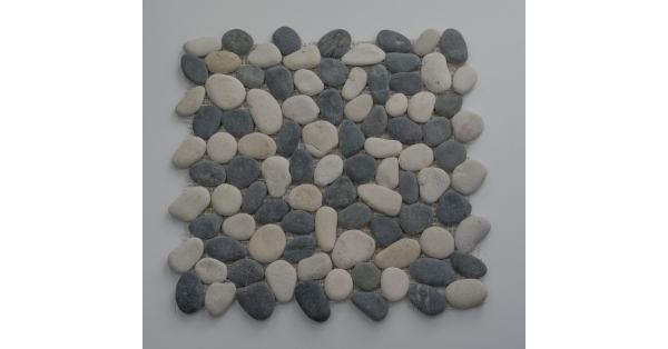 Pebbles Stone Black & White 35 x 35