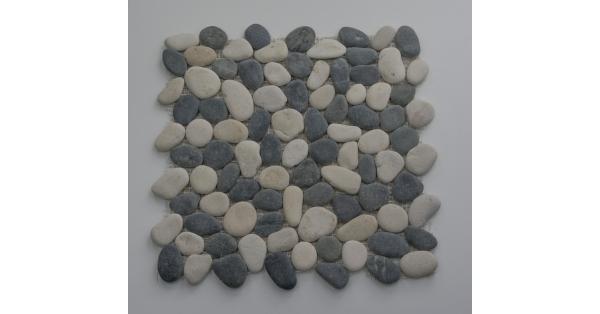 Pebbles Stone Black & White 35 x 35