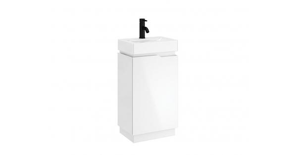 Quattro 450mm 1 Door Floor Unit White