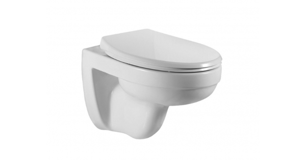 Refine Wall Hung Rimless Pan & Soft Close Seat