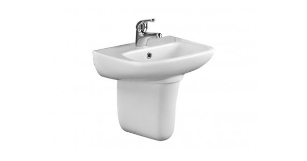 Rio SP 450mm Cloakroom Basin & Pedestal