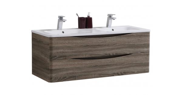 Sofia 1200mm 2 Drawer Wall Unit Cyan Oak