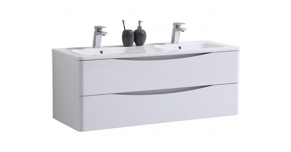 Sofia 1200mm 2 Drawer Wall Unit White