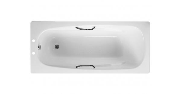 Twin Grip Steel Bath c/w Anti-Slip