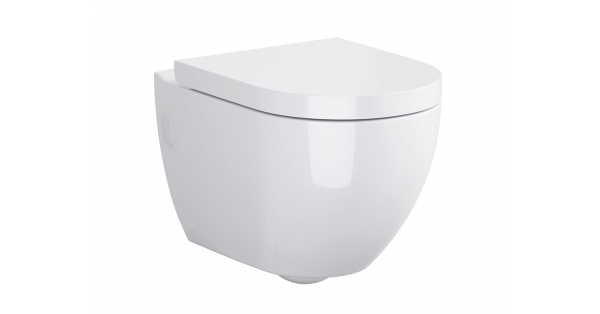 Urban Harmony Clean On Wall Hung Toilet Pan & Soft Close Seat