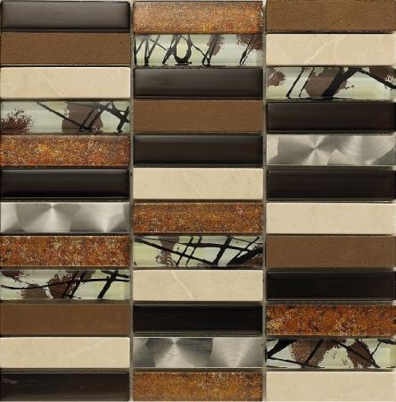 Artist Brown Mosaic Wall Tile 30x30