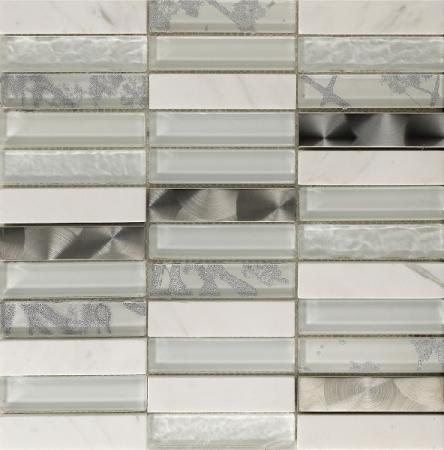 Artist White Mosaic Wall Tile 30x30