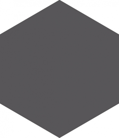 Hexagon Graphite Floor Tile 17.5x20.2
