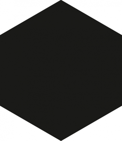 Hexagon Black Floor Tile 17.5x20.2