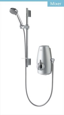 Aquastream Thermo Mixer Power Shower with Adjustable Head Chrome