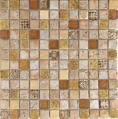 Imperium Gold Mosaic Wall Tile 30x30