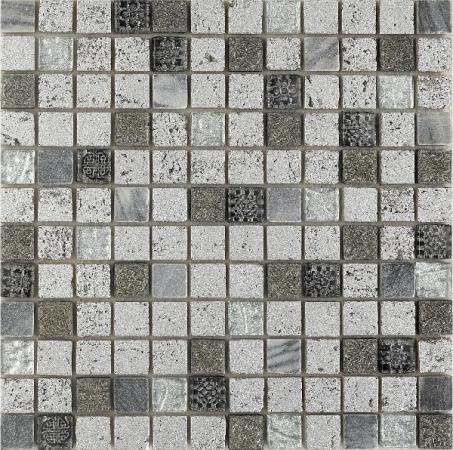 Imperium Silver Mosaic Wall Tile 30x30