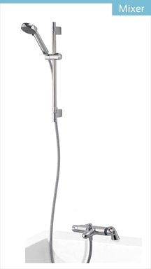 Midas 100 Bath Mixer Shower with 90mm Harmony Head - HP/Combi