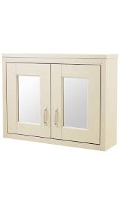 Ivory 800mm Mirror Cabinet