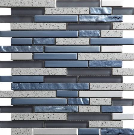 Quartz Grey Mosaic Wall Tile 30x30