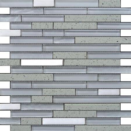 Quartz White Mosaic Wall Tile 30x30