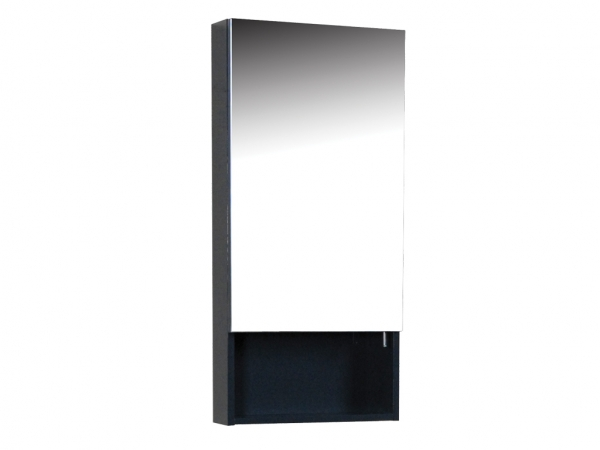 Quattro 400mm Mirror Cabinet 1 Door Anthracite