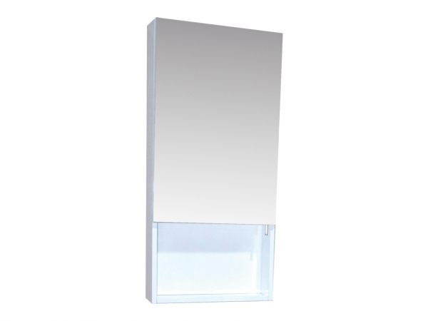 Quattro 400mm Mirror Cabinet 1 Door White