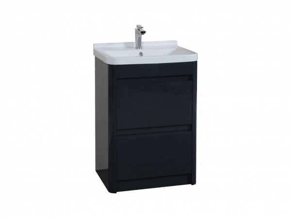 Riva 600mm Floor Mounted Unit 2 Drawer Anthracite