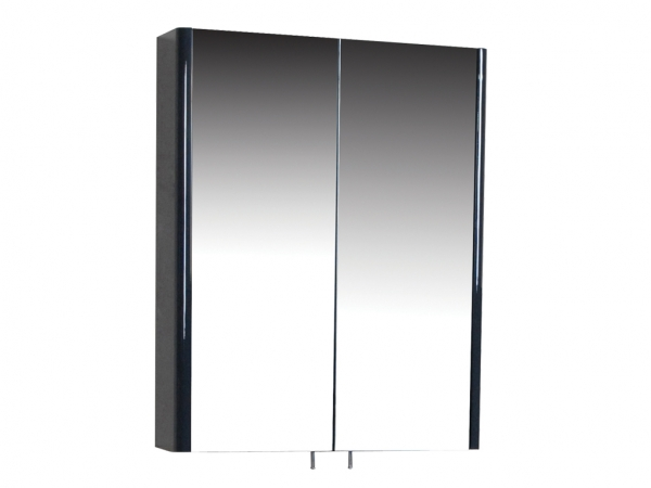 Riva 600mm Mirror Cabinet 2 Door Anthracite