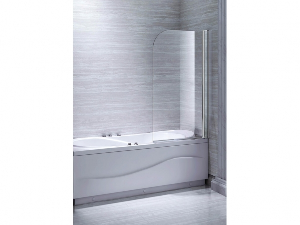 Round Single Bath Screen 1300x800mm