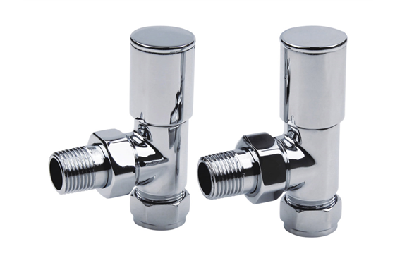 Round Radiator Valves Pair