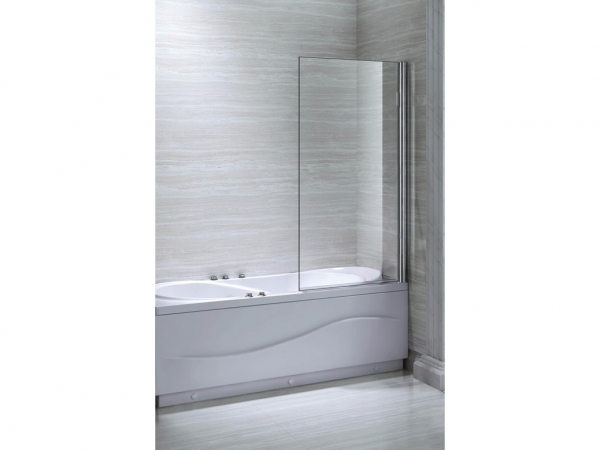 Square Single Bath Screen 1300x800mm
