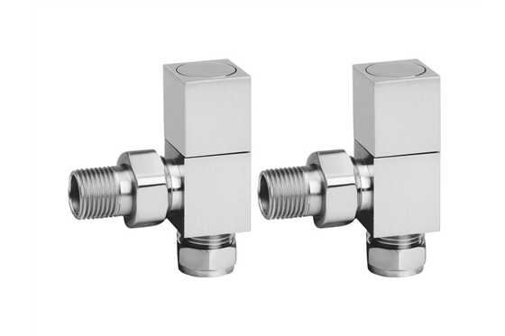 Square Radiator Valves Pair