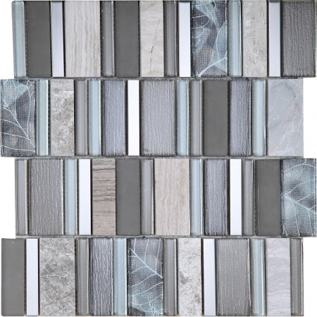 Stripes Sunset Mosaic Tile 30x30
