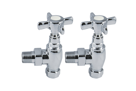 Traditional X Head Radiator Valves Pair