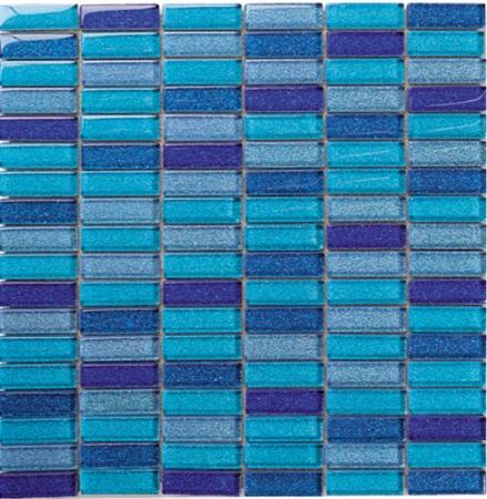 Cristal Blue Sky Mosaic Wall Tile 30x30
