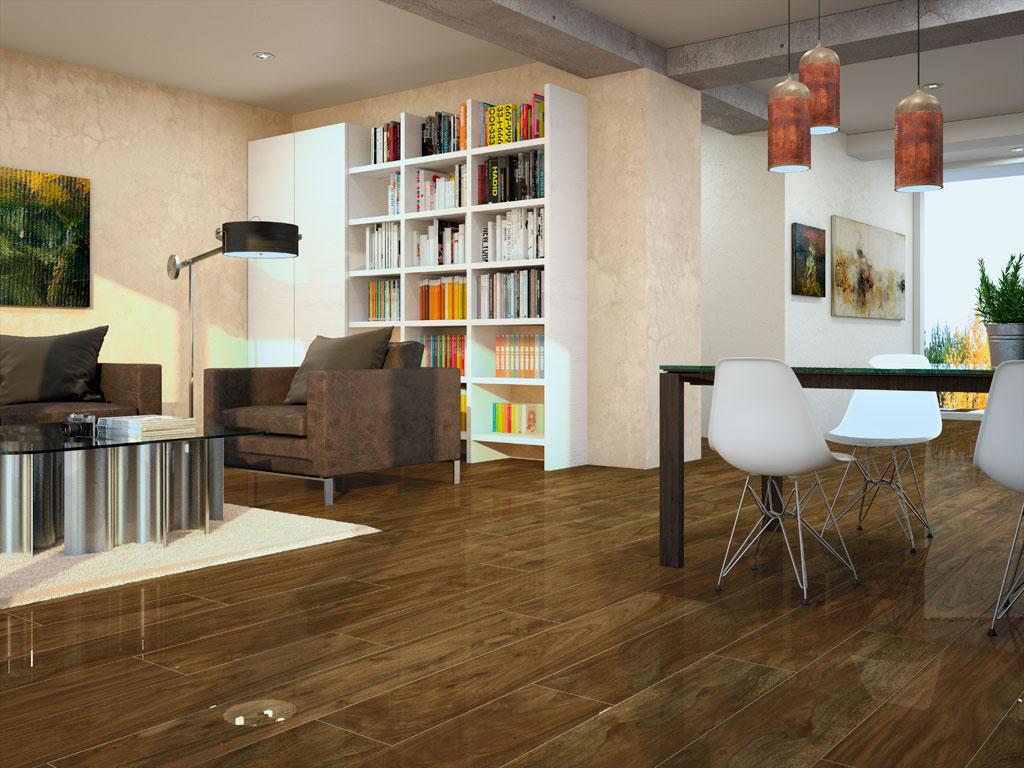 lacrosse nogal wood effect floor tile 20x114