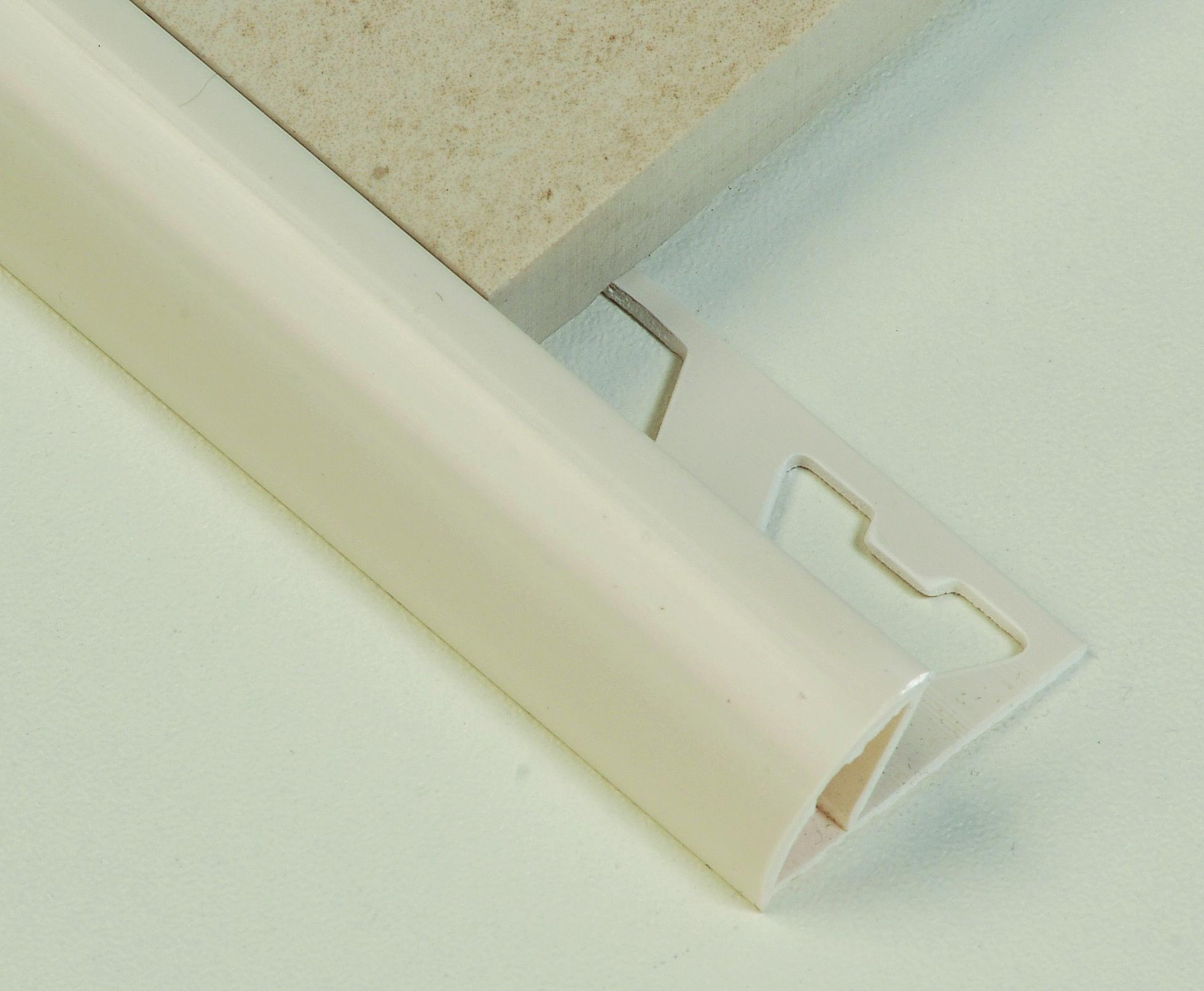 Tile Trim 10mm Round Edge Pvc Cream White